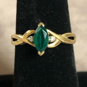 Jewelry - 💚 1/4 Carat Emerald 14k Gold Ring 💚